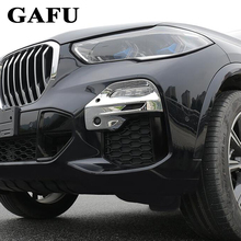 Car styling Front Fog Lamp Frame Modified Head Light Decoration Cover For BMW X5 G05 SPORT 2019 Accessories Abs Chrome 2pcs