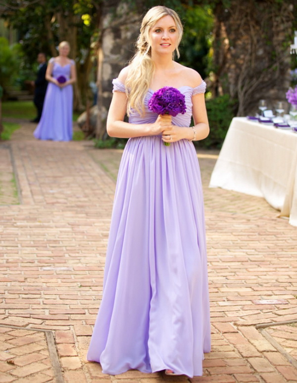 Us 99 0 Aliexpress Com Buy Light Purple Chiffon A Line Bridesmaid Dresses 2017 Pleat V Neck Cap Sleeve Sleeveless Backless Long Wedding Party