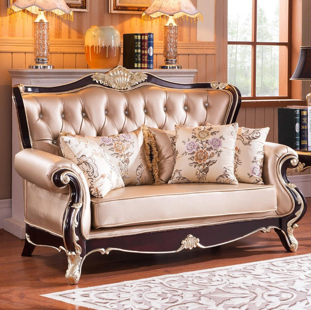 Aliexpress.com : Buy 2015 New Style Leather Sofa Living Room Furniture Sofa  Seats Classical European Style Wood Furniture Sofa Single set from Reliable  sofa ... - Aliexpress.com : Buy 2015 New Style Leather Sofa Living Room