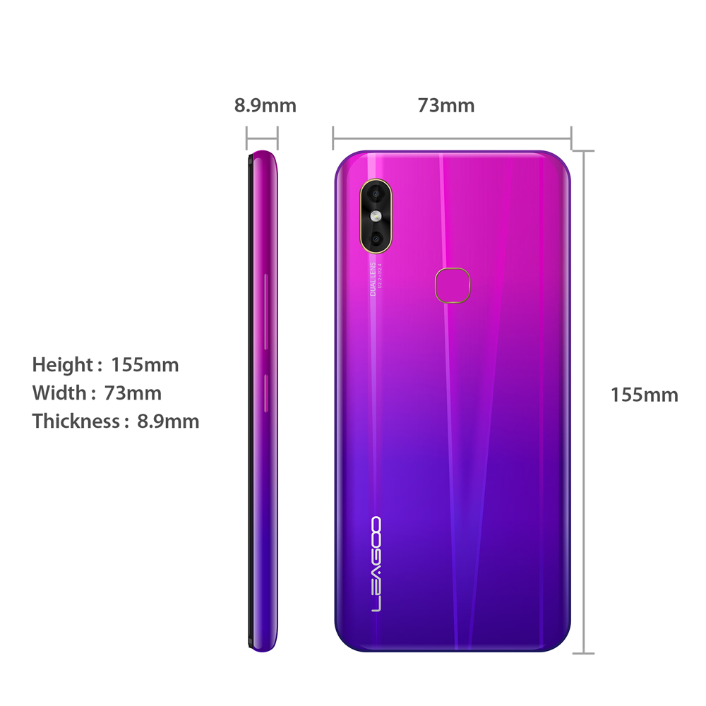 """Image 3 - LEAGOO M13 Android 9.0 6.1"""" Waterdrop Smartphone 4GB RAM 32GB ROM MT6761 Quad Core Fingerprint Face ID Dual SIM 4G Mobile Phone-in Cellphones from Cellphones & Telecommunications"""