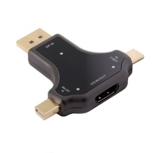 USB3.1 Type-c USB-C & Displayport Mini DP 3in1 to HDMI Female Adapter Type C 4K 2K for MacBook Laptop PC