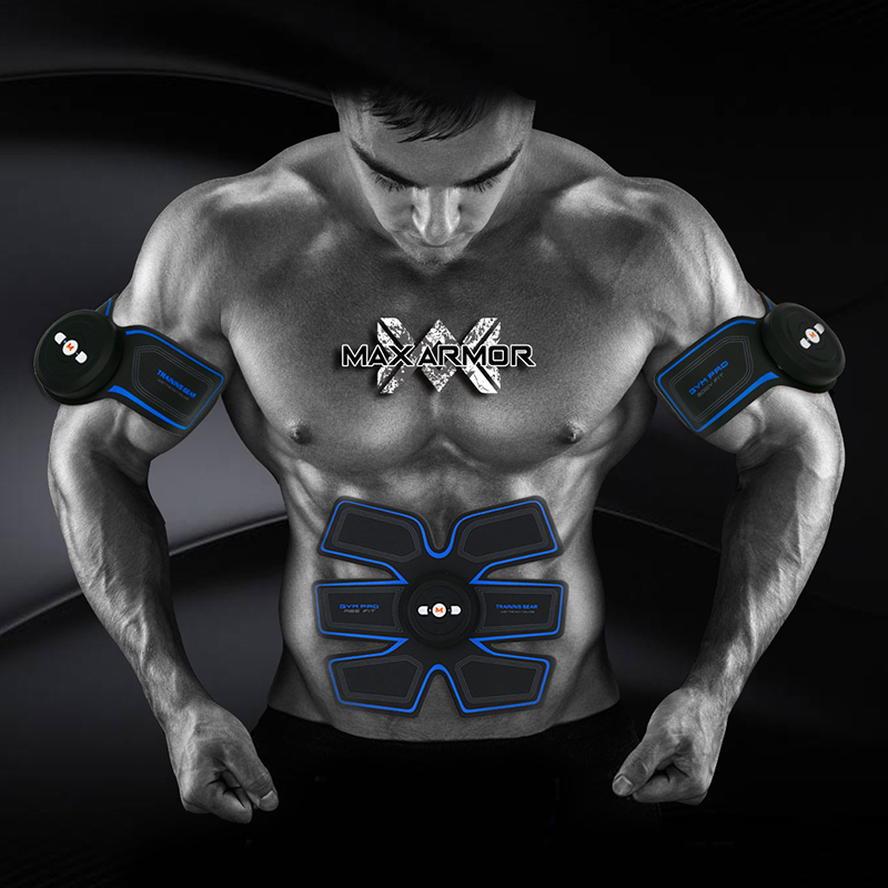Smart Ultimate ABS Stimulator Muscle Training Gear Toning Belt Home Exercise Fit Pad Fitness Gym Abs Arm Sports Stickers ...