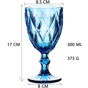 Image 5 - Wine Glass Cups Multicolor Carved Goblet Whiskey Red Wine Glasses 300ML Wedding Party Champagne Flutes Bar Restaurant Home Tools
