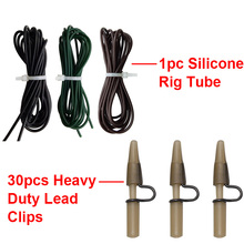 151pcs Carp Fishing Accessories Tackle Anti Tangle Sleeves Silicone Rig Tube Lead Clips Carp Hook Sleeves Set With Box