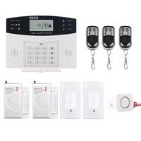 Saful Hot sale Wireless GSM & Home Security LCD Display Auto Dialing Dialer SMS Call Burglar Alarm Systems