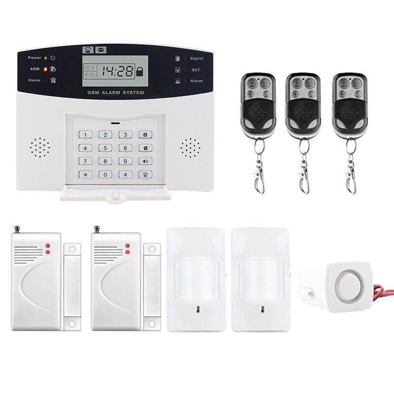 Saful vente Chaude Sans Fil GSM & Home Security LCD Affichage Composition Automatique de L'appeleur SMS Antivol Systèmes D'alarme