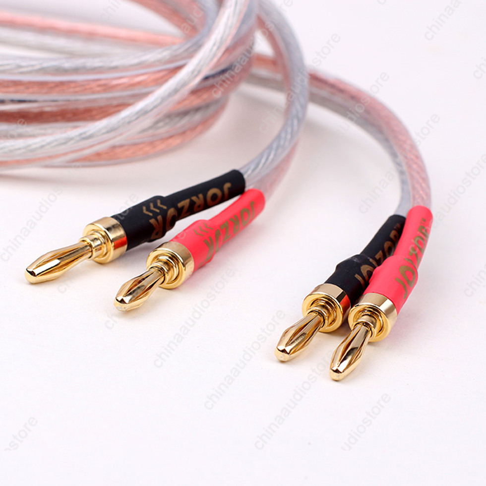 HI FI Oxygen Free Copper Speaker Cable Wire For Bi wire Speakers Bi ...