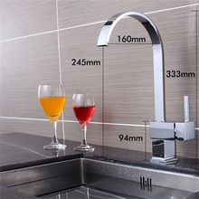 Free Shipping Single Handle Chrome Bathroom Faucet Modern Curved Waterfall Hot Cold Brass Basin Sink Mixer Tap TL088 цены