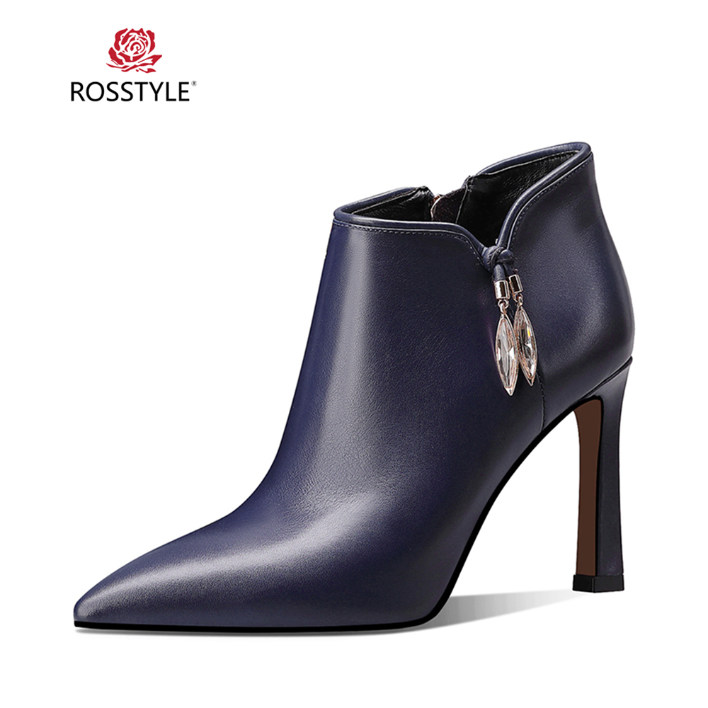 ROSSTYLE Handmade Quality Lady Ankle Boots Luxury Solid Sheepskin Metal Zipper Boots Elegant Pointed Toe High Thin Heel Boot B25ROSSTYLE Handmade Quality Lady Ankle Boots Luxury Solid Sheepskin Metal Zipper Boots Elegant Pointed Toe High Thin Heel Boot B25