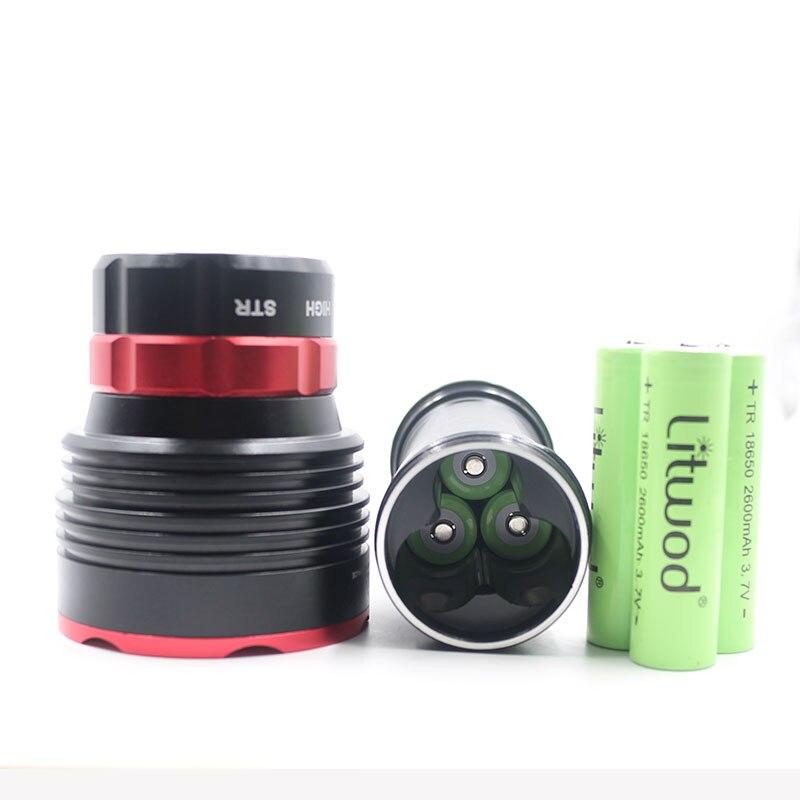 Z20 5led Cree XM L L2 Led lampe de poche de plongée lampe torche étanche 3 modes par 18650 batterie lampe de natation sous l'eau 80m - 3