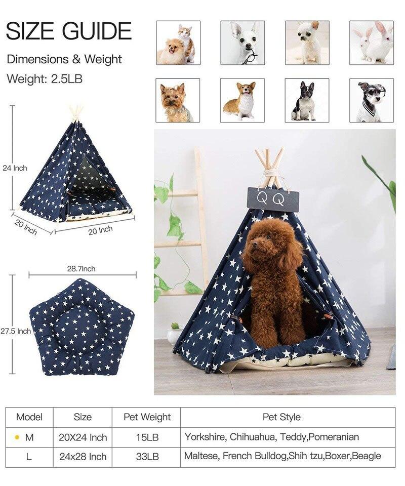 Tienda de campa/ña port/átil plegable para gatos perros con impresi/ón transpirable para mascotas Unwstyu