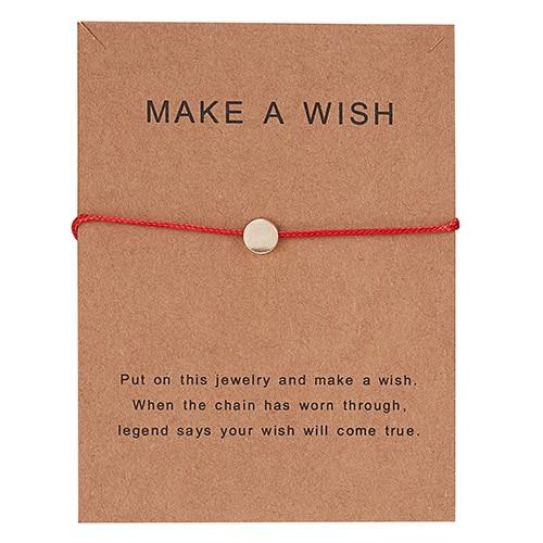 Регулируемый браслет с бумажными карточками в форме бабочки, звезды, короны, Круглый тканый браслет ручной работы, Простые Модные женские ювелирные изделия, подарки - Окраска металла: 17