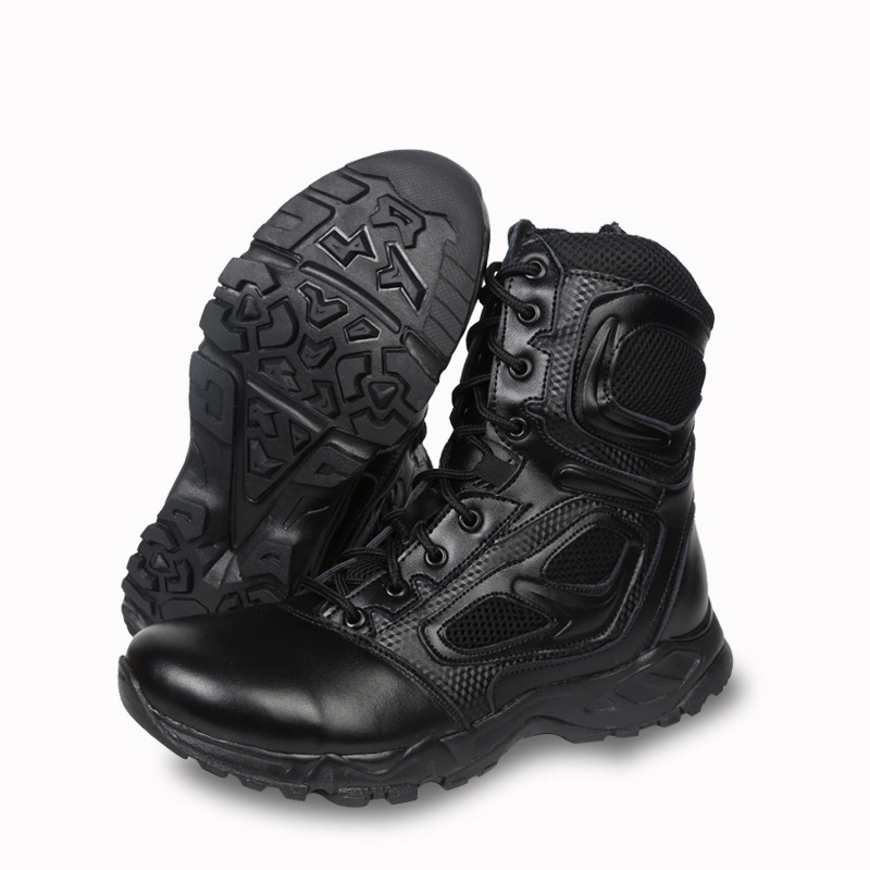 Men s Army Leather Ultralight Desert Assault Boot Shoe Bota Outdoor Mesh Breathable Hiking Climbing Ankle Shoes High Tube Boots men s outdoor hunting hiking mountain non slip lace up mesh breathable ankle high boots tactical army desert sport shoes boot