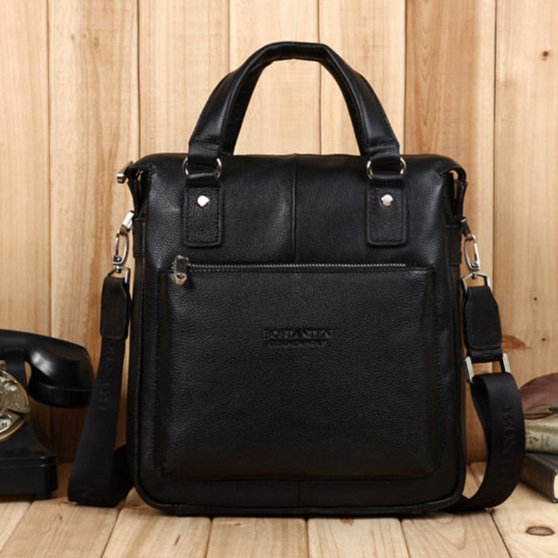 2018 Genuine Leather Bostanten New Real Cowhide Men s Bag Good Qulity Business  Messenger Shoulder Briefcase Handbag df137460db2e2