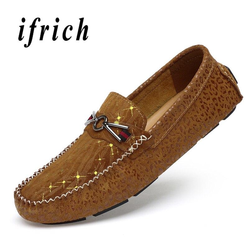 Mode jeunes flâneurs occasionnels hommes chaussure marron noir mâle sans lacet Sneakers en cuir hommes chaussures de conduite Non-Sliip chaussures plates pour hommes