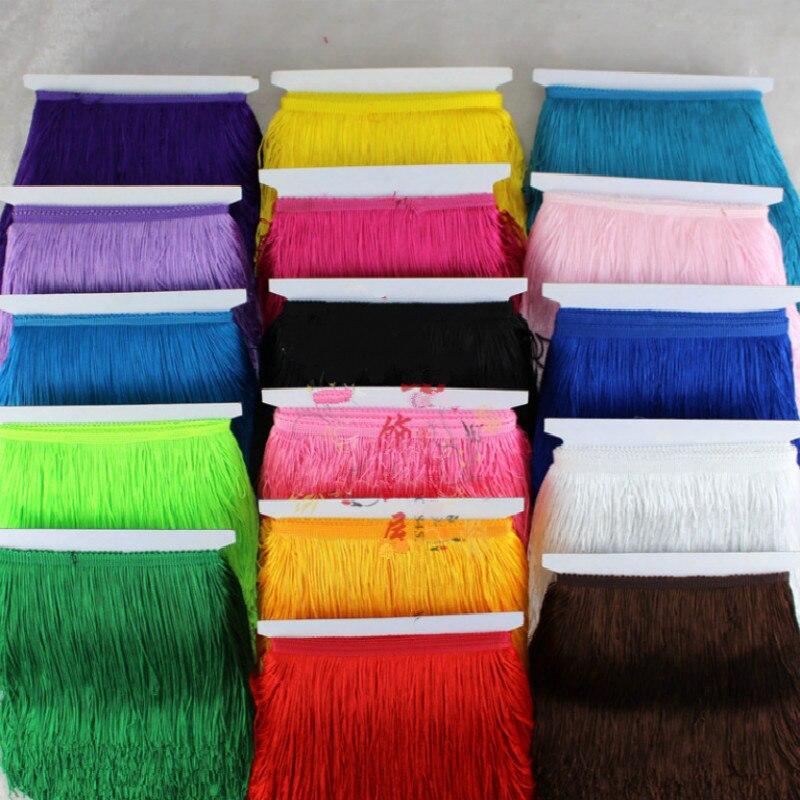 15CM Width Polyester Tassel lace Fringe Trim For DIY Latin Dress  Lace 5 yards/Lot