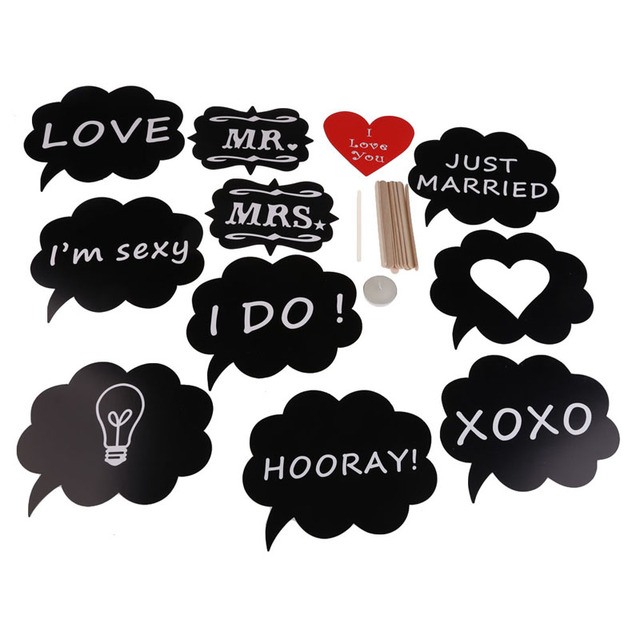 cute 11pcs diy wedding decoration mariage christmas party photo booth props mask love heart party decorations - Aliexpress Decoration Mariage