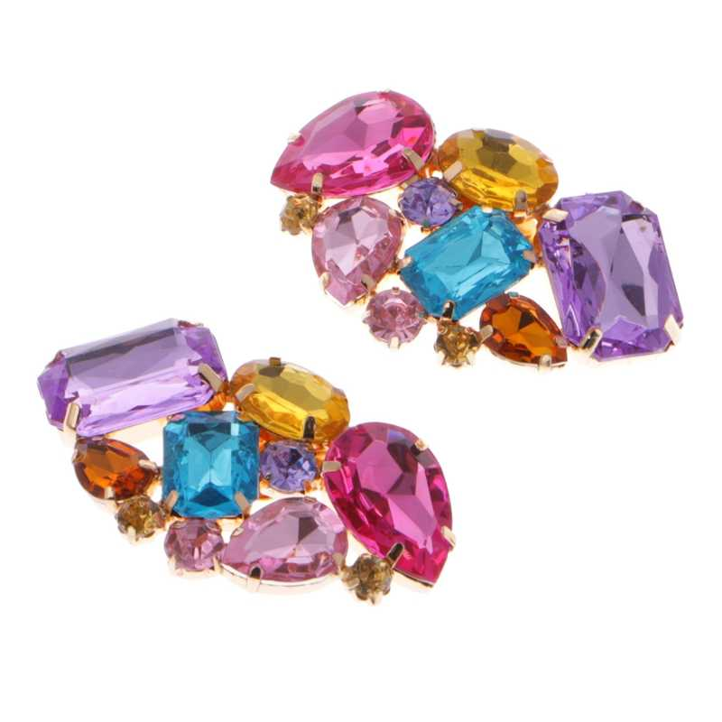 EYKOSI Color Shoe Clips Fashion Triangle Glass Wedding Bridal Decoration  Accessories 70a0d1577001