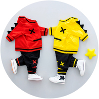 Boys Clothing Set Spring 0 3y New 2018 Fashion Style Cotton O Neck Collar Full Sleeve