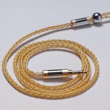 цена 8 Strands Earphone Cable MMCX for Shure SE215 SE535 0.75mm 0.78mm 2 Pinfor Weston TFZ 1964 W4r Um3x A2DC Ls50 IE80 Im50 Im70 в интернет-магазинах