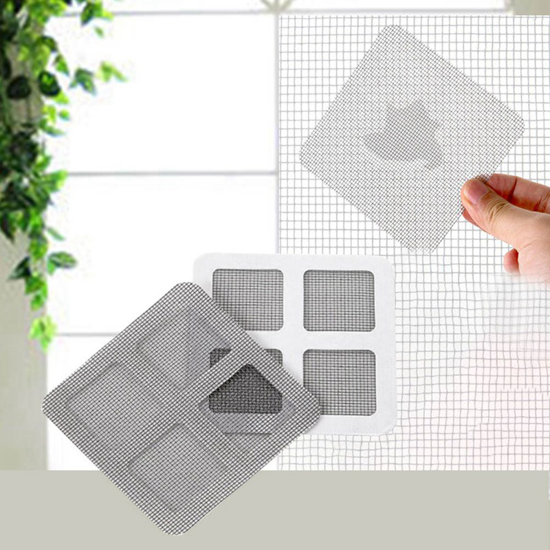 Repair Subsidy Stick 3pc Anti-mosquito Net Easy Repairing Stickers Home Door Window Mesh Curtain Gluing Patches Self Adhered