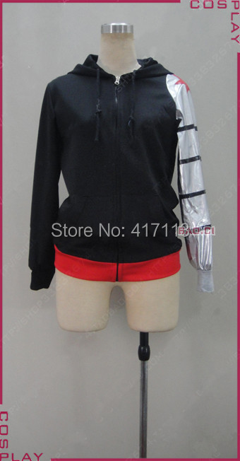 Captain America 2 The Winter Soldier Custom Made Hoodie One Silver PU Leather Sleeve Cosplay Costume CA-002 movie captain america the winter soldier black widow cosplay costume custom made any size