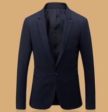 Men leisure suit coat lapels formal occasions classic single-breasted blazer black business negotiations suit jacket