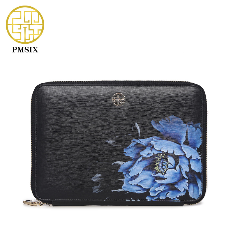 Pmsix 2017 Autumn Winter Fashion Printing Small Handbag Multifunction Womens Leather Clutch Bag Apple Ipad Bag P520013