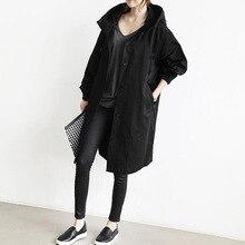 Womens Windbreaker  Trench Women Female Long Waterproof Hooded Coat Feminino Mujer Loose
