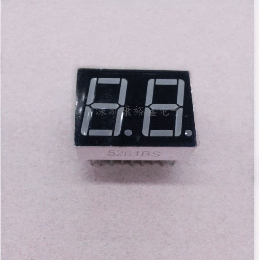 Free Ship 100pc Common cathode/Common anode 0.56inch digital tube 2 bit digital tube display Red Static digital tube 18pin
