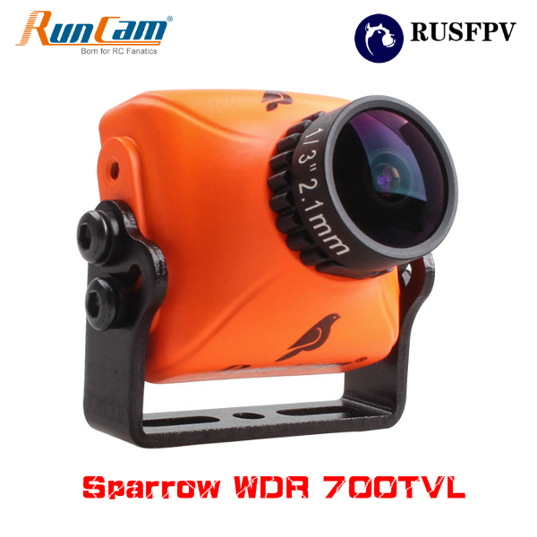 RunCam Sparrow WDR 700TVL 1/3 CMOS 2.1mm FOV150 Degré 16:9 OSD Audio FPV Caméra NTSC/PAL Commutable