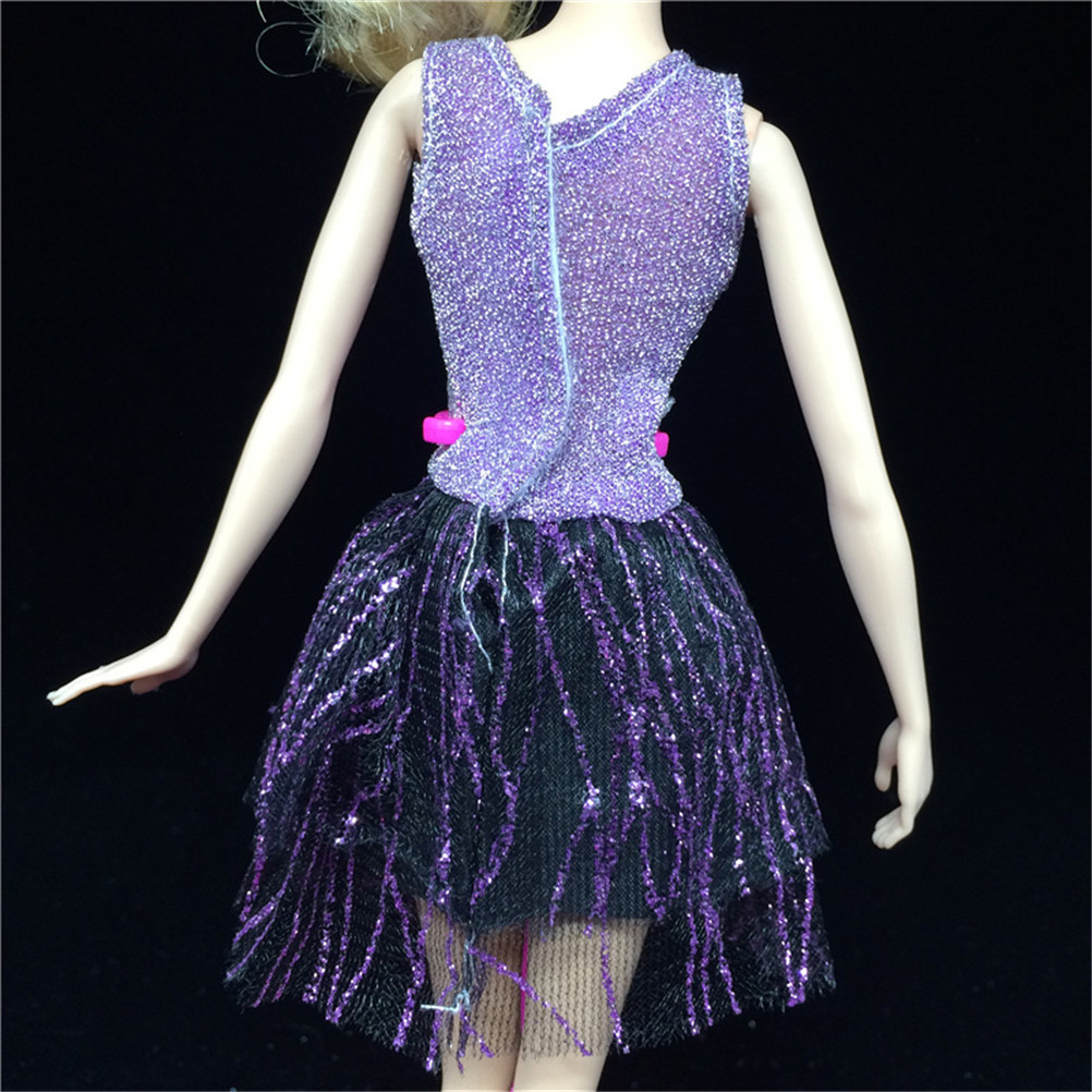 1 Set Doll Dance Dancing Dress Dresses Clothes Handmade Party Doll's Dress Clothes Gown For Girl Best Baby Gift