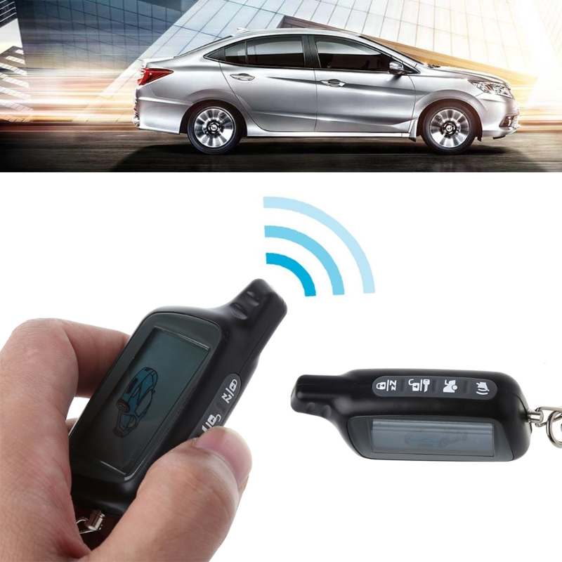 Two Way Car Alarm System LCD Remote Controller For Russian Version Tomahawk X5-in Remote Controls from Automobiles & Motorcycles