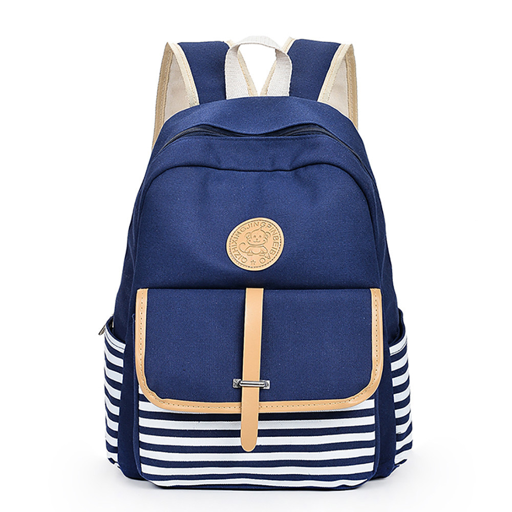 Heißer Stilvolle 3 Satz Leinwand Druck Rucksäcke Frauen Nette Leichte Bookbags Nahen Hohe Schule Taschen Für Teenager Mädchen Gepäck & Taschen
