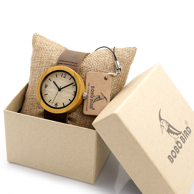 BOBO BIRD Brand Wood Watch Women's Watches Bamboo Wood Wristwatch Female Clock Lady Quartz-watch relogio feminino C-D18-2 rigardu fashion female wrist watch lovers gift leather band alloy case wristwatch women lady quartz watch relogio feminino 25