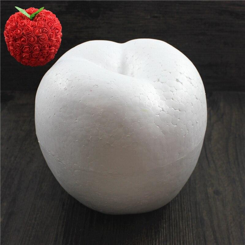 1 шт. 170 мм моделирование пенополистирол пенопласт пены мяч Apple Белый авторские шары для DIY для рождественской вечеринки украшения поставки подарки