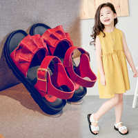 Kids Sandals 2019 Summer Genuine Leather Children Sandals for Girls Fold Girl Princess Shoes Breathable Baby Girls Sandals