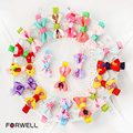 Forwell 10Pcs/lot Children's hair accessories hairpins hair rope baby girl bow hair clip headdress flower rubber band barrettes