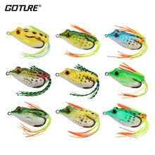 Goture 9pcs Comfortable Frog Lure Synthetic Bait 5.5cm 12.5g Silicone Fishing Lure Topwater Floating Wobblers for Fishing Equipment