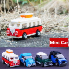 Singel Sale Diy Blocks Mini T1 Volkswagen Cooper Smart Beetle Dragbil Kompatibel med Legoingly Figur Brick Leksaker För Barn