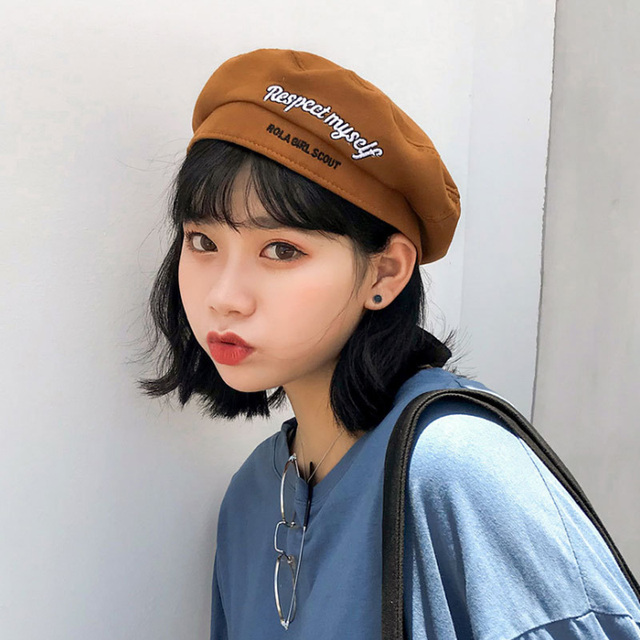2018 Summer Soft Wool Women Beret Hat Casual Streetwear 90s Girls Beret Cap  Female French Beret Caps f1aa430dbe1