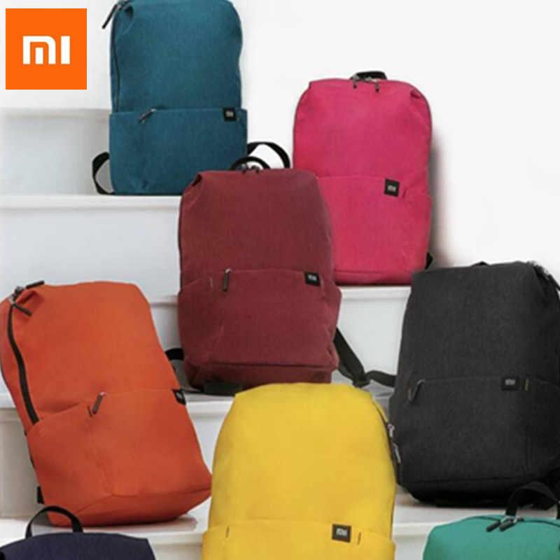 d33a6126ed76 ... Оригинальный Xiaomi Mi сумка Xiaomi сумки рюкзак 10L сумка 8 цветов 165  г городского отдыха спортивные ...