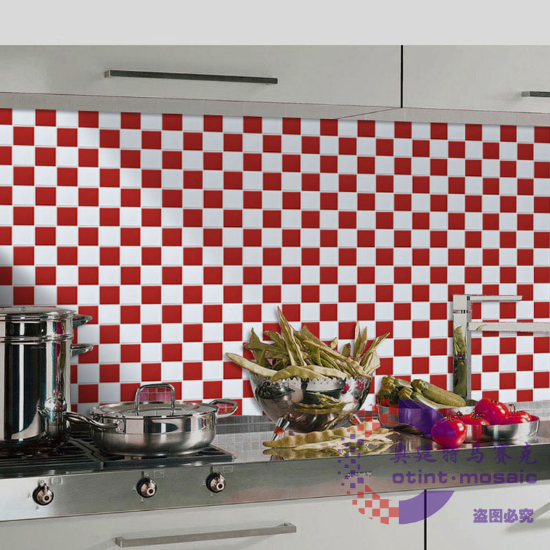Ceramic Tiles Mosaic White Red Kitchen Backsplash 2x2 Porcelain Tile Bathroom Walls Shower Flooring Chess Puzzled Mosaics Tiles Tiling A Kitchen Wall Tiling Porcelain Tilestile Backsplash Kitchen Pictures Aliexpress