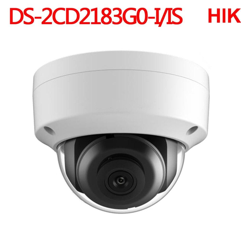 Hikvision 8mp cctv câmera de segurança de vigilância de vídeo ip DS-2CD2183G0-IS rede de áudio camcorder dvr nvr sistema segurança
