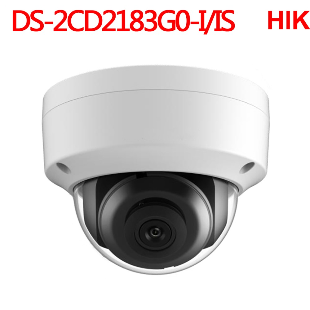 Hikvision 8mp cctv Video Surveillance security ip Camera DS 2CD2183G0 IS audio Network cam Camcorder DVR NVR security system in Surveillance Cameras from Security Protection