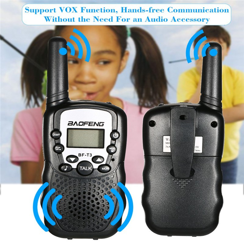 Image 5 - 2 PCS Baofeng BF T3 Mini Children Walkie Talkie Two Way Ham UHF Radio Station Transceiver Boafeng PMR 446 PMR446 Amador Handheld-in Walkie Talkie from Cellphones & Telecommunications