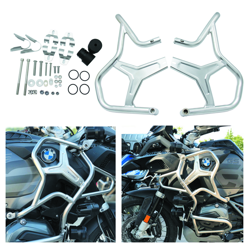 For BMW R1200GS R1200 GS 2014 2018 2015 2016 2017 2018 Crash Bars Protector Engine Guard Frame Protective Bumper R 1200 GS-in Bumpers & Chassis from Automobiles & Motorcycles    1