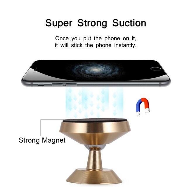 Tendway samochodowy magnetyczny uchwyt na telefon 360 stopni Dashboard magnes uchwyt na telefon komórkowy stojak w samochodzie uniwersalny uchwyt na telefon uchwyt do montażu