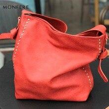 Monfere большой моды случайные Хобо женская сумка принцесса мягкая рок Стад молнии плечевой ремень сумки для женщин 2017 Кроссбоди сумки