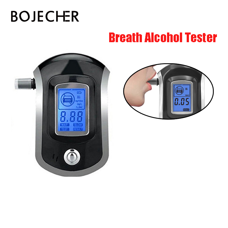 20pcs lot via DHL free Digital Breath Alcohol Tester Professional Breathalyzer LCD Dispaly with 5 Mouthpieces